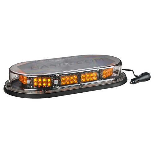 North American Signal Economy Magnetic Mount Low-Profile LED Mini-Bar, Amber
