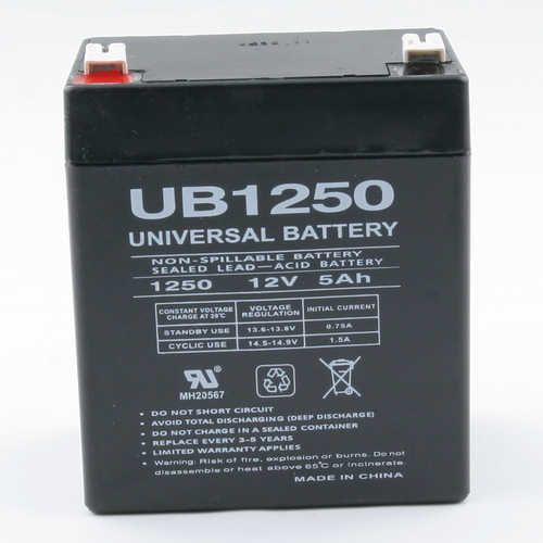 Global Water 12V DC 5AH Rechargable Battery
