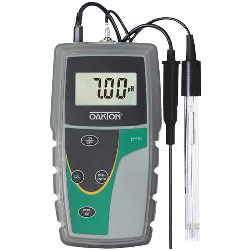 Oakton pH 5+ Meter with Single-junction Electrode, ATC Probe