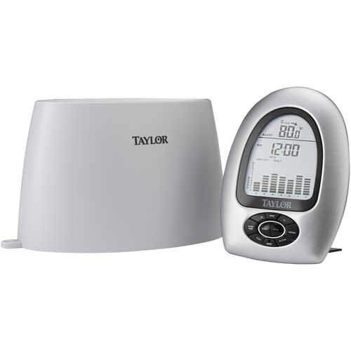 Taylor® Wireless Rain Gauge with Thermometer