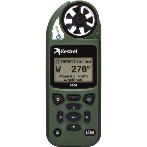 Kestrel 5500 Environmental Meter with LiNK and Vane Mount Olive Drab