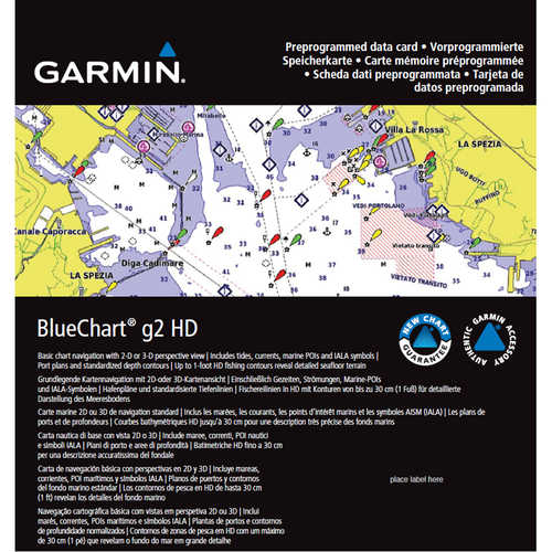 Garmin BlueChart g2 HD Maps, U.S. All and Canadian West Coast
