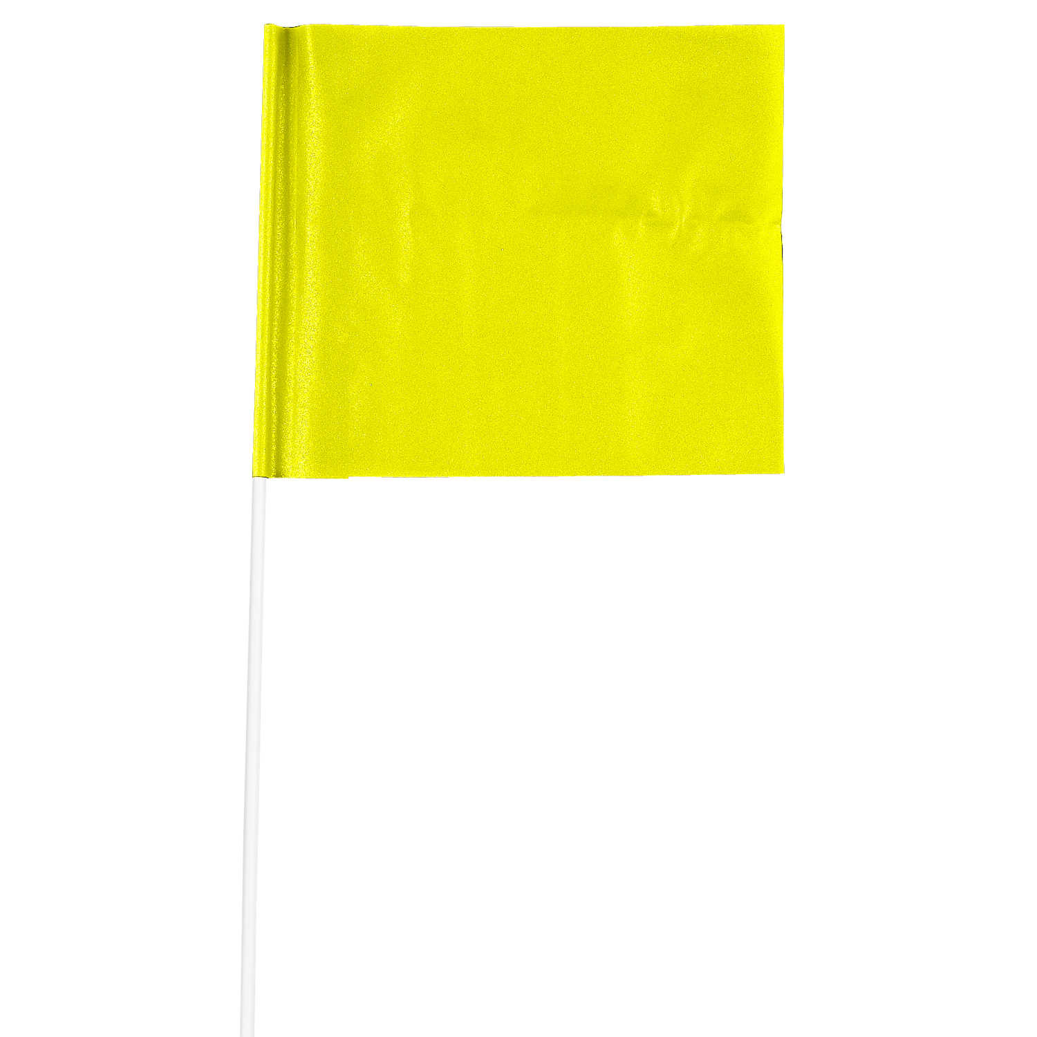 "4"" x 5"" Plain Colors Marking Flags with PVC Stakes"