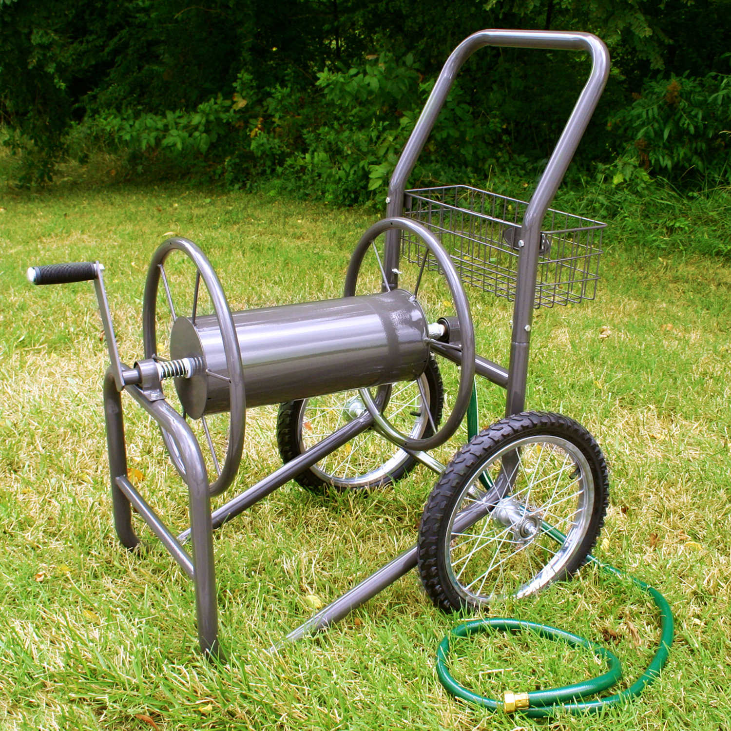 liberty garden industrial two wheel hose reel cart - Garden Hose Reel Cart