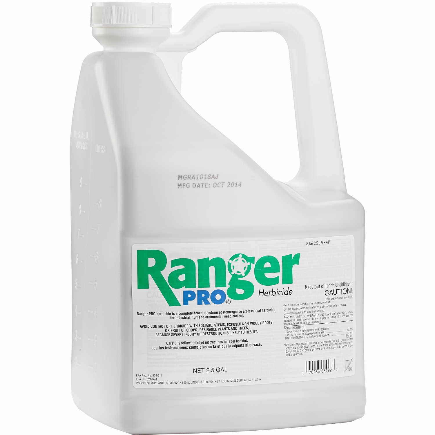 It is a photo of Obsessed Ranger Pro Herbicide Label